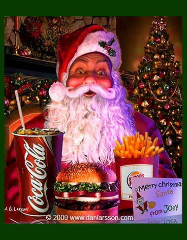 Julillustration till Burger King - Coca Cola