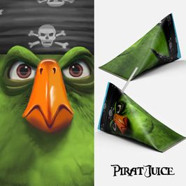 Piratpapegoja - Juicepaket design